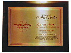 Covington Who's Who Award 2013 to Ginger Marks